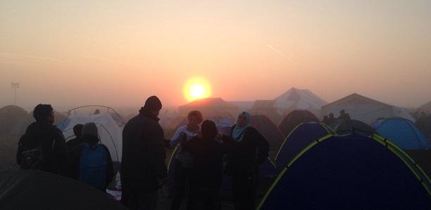 Refugee Camp in Roeszke - photo taken by volunteer Lisa M.