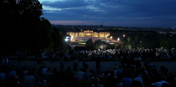 Summer Night Concert of the Vienna Philharmonic Orchestra.